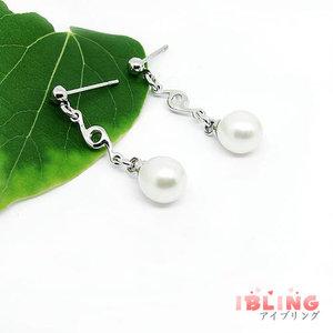 淡水真珠ピアス ホワイト系 ES4360--2 AA